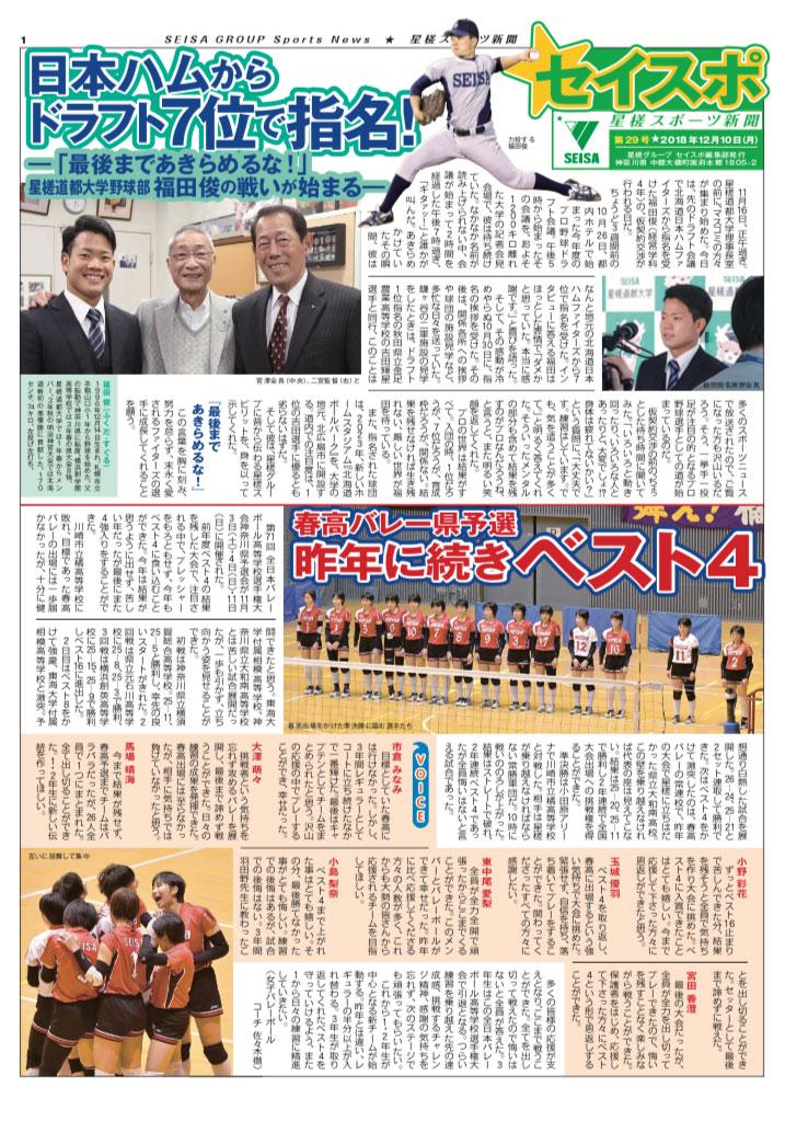 星槎スポーツ新聞 第29号(20181210)